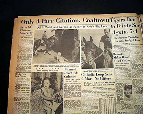 kentucky-derby-citation-thoroughbred-horse-racing-1st-race-triple-1948-newspaper