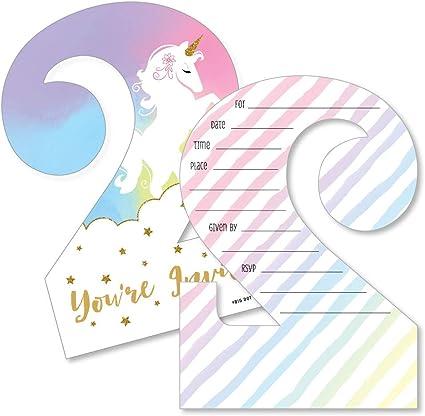 Amazon Com 2nd Birthday Rainbow Unicorn Shaped Fill In