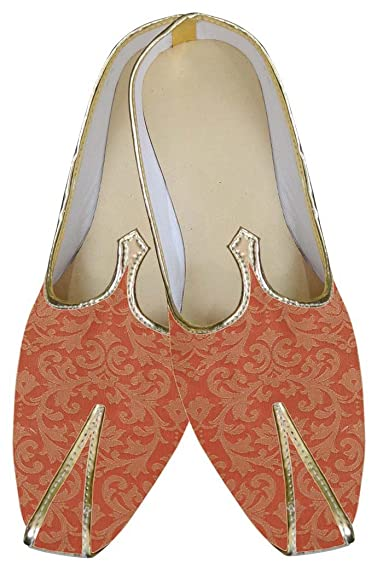 Mens Orange Designer Wedding Shoes MJ0126