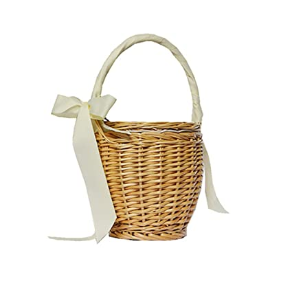 Beach Straw Bags Wicker Basket Bag Totes Women Boho Handbags Summer Fashion  Bag With Bow beige c5a330d133877
