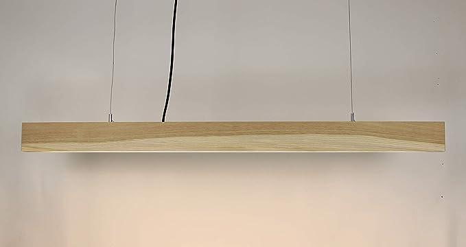 Pendelleuchte Holzlampe Obi Pendelleuchte Aus Eiche Nussholz Made In Germany Led Designer Deckenleuchte Massivholz Esszimmer Wohnzimmer Flur Handgemachte Hangelampe Eiche Amazon De Beleuchtung