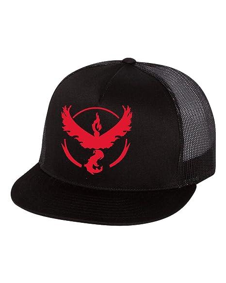 Pokemon Go Gym Team Hats Team Valor Flat Bill Trucker Hat Red at ... 0a4affd4cd96