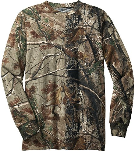 Joe's USA(tm) - Realtree Explorer 100% Cotton Pocket Long Sleeve T-Shirt Camo Hunting Shirts