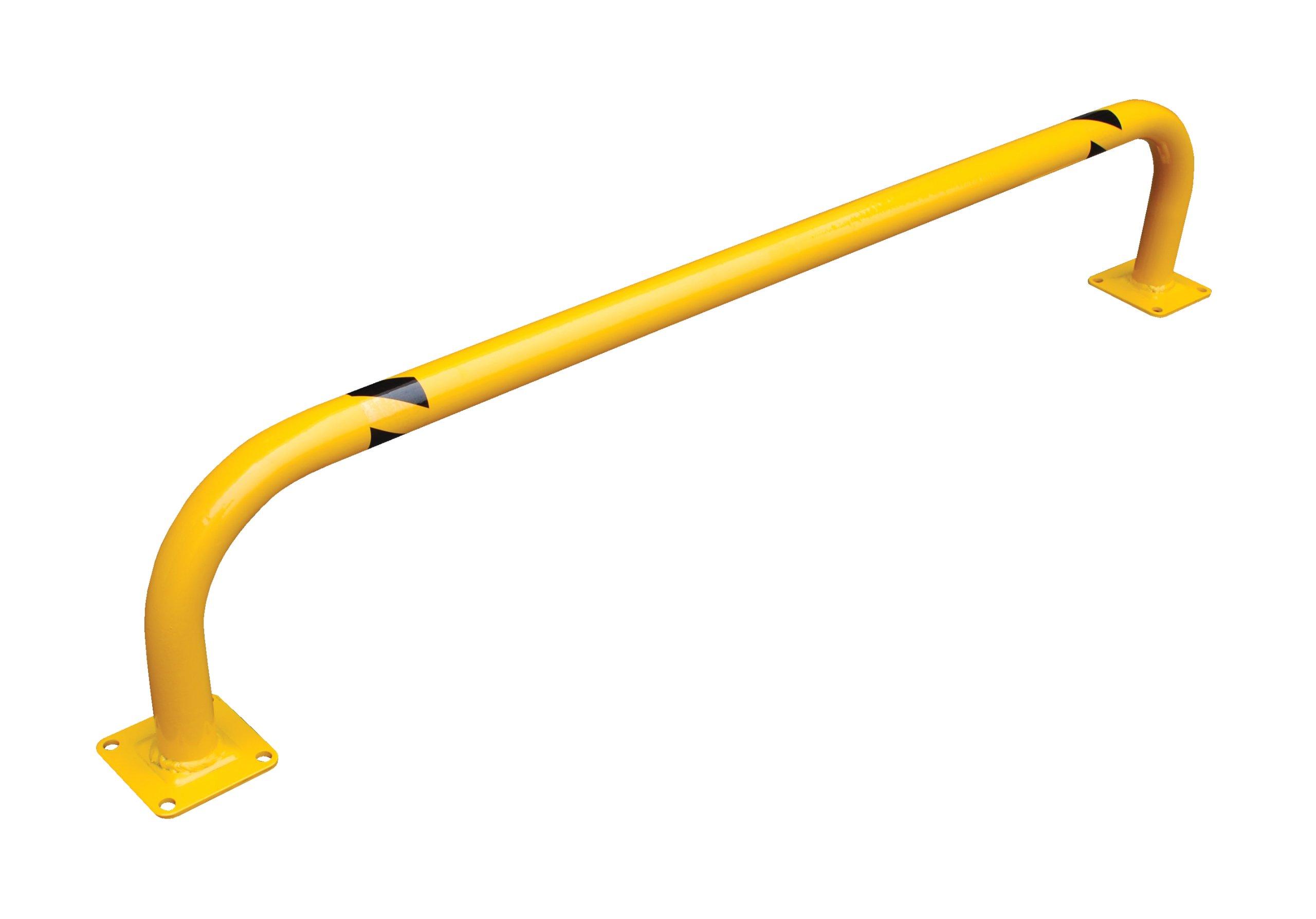 Vestil Low-Profile Rack Guard - 36in.L x 9in.H, 1 3/4in. Outside Diameter, Model# LPRO-36-9-2