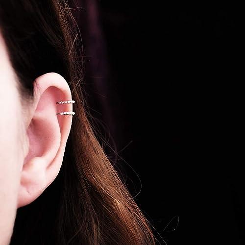 abcf2d358b0 Bague d oreille en titane helix - Anneaux de cartilage pour oreille non  percée -