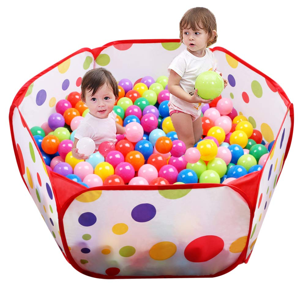 Eocolz Ball Pits for Toddlers  Baby Ball Pit Kids Ball Tent  Playpen Pop Up Childrens Crawl  Playhouse with Zipper Storage Bag, 3.3 Ft/100CM, Balls Not Included (Red)