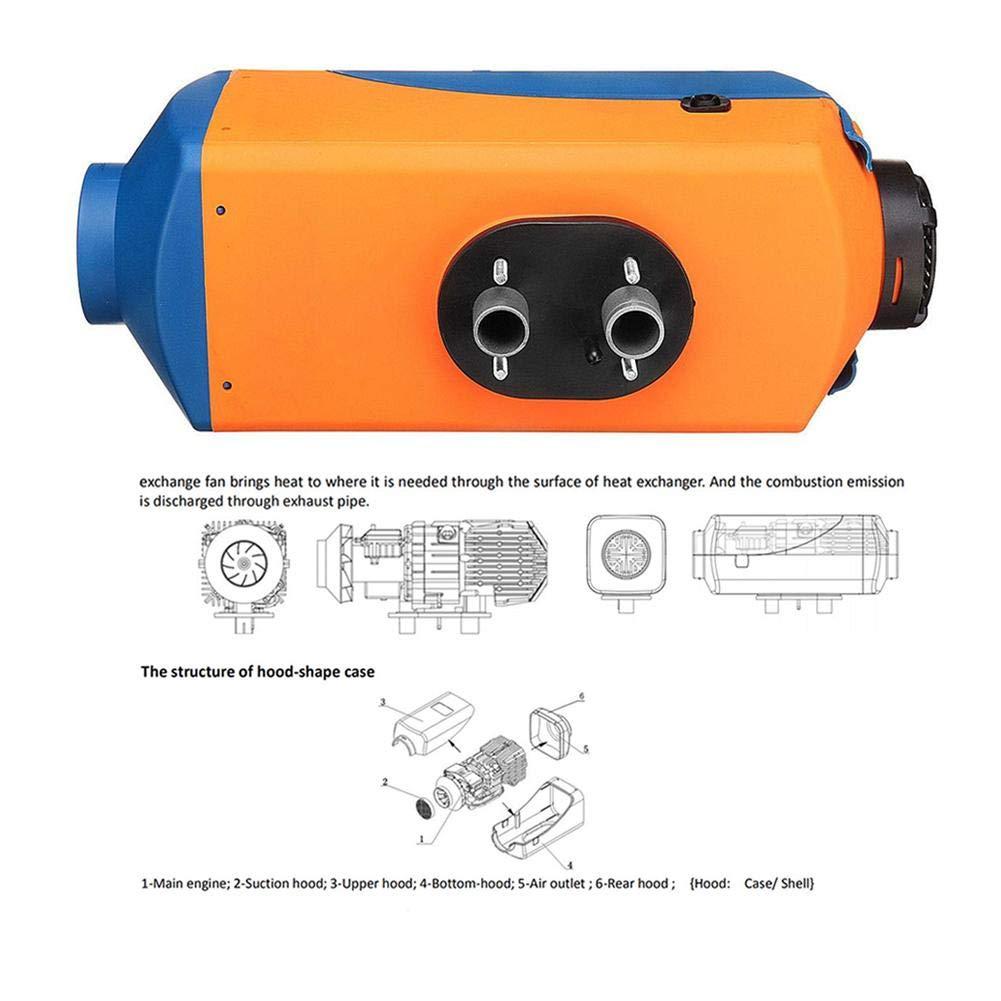 Wohnmobil Anh/änger Bulary 5KW Air Diesel Kraftstoff Heizung 12 V Auto Standheizung Elektrische Heizung K/ühlung LCD Monitor Thermostat f/ür RV boote lkw