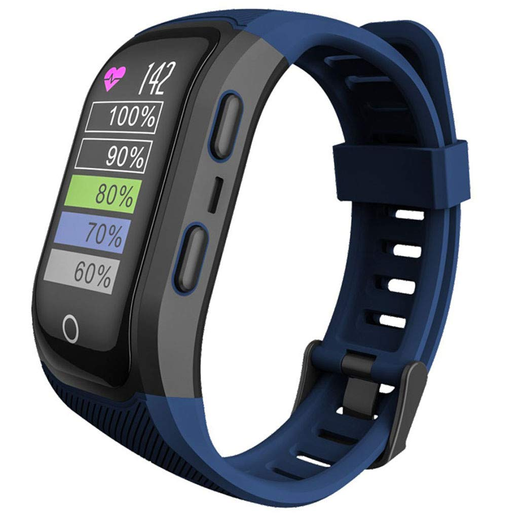 Opef S908s Smart Sports Watch, Sports Fitness Calorie Wristband, Activity Heart Rate Tracker for Android and iOS (Blue) by Opef