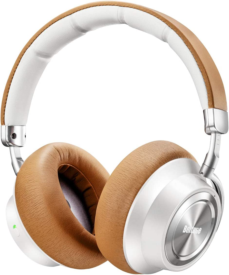 Boltune BT-BH011 Brown Bluetooth Wireless Over-Ear Headphones