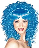 Rubie's Costume Candy Girl Curly with Bangs Wig, Blue, One Size