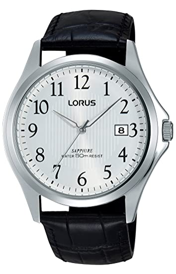 Relojes Lorus Herren-reloj analógico de cuarzo cuero RS999BX9: Amazon.es: Relojes