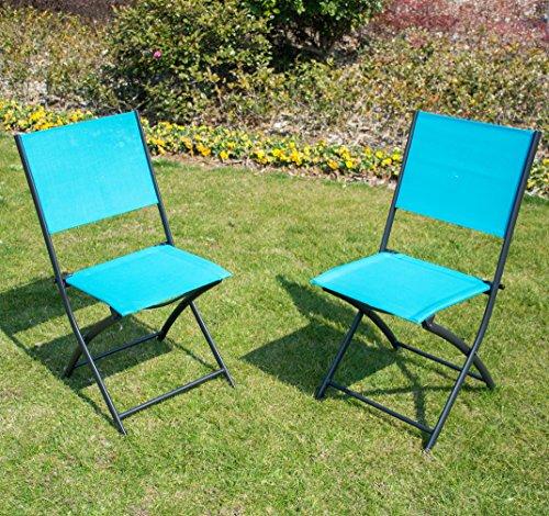 Patiopost Sling Outdoor Chair 2 Pack Sling Textilene Mesh