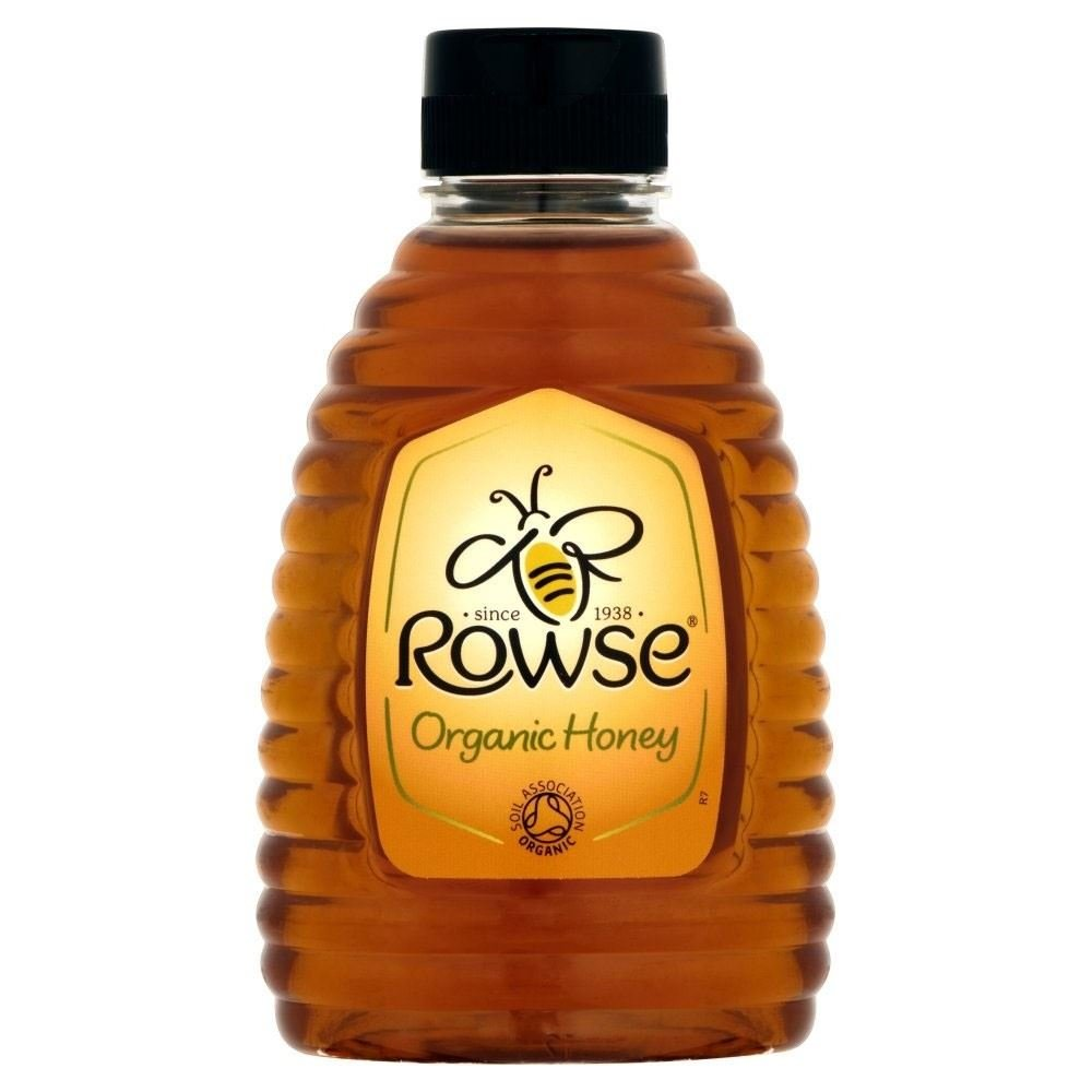 Rowse Organic Clear Honey Squeezy (340g) - Pack of 6