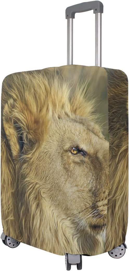 Travel Luggage Cover African Wild Life Lion Hunter Waiting Suitcase Protector