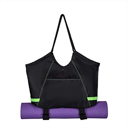 3d12a65042e Covax Yoga Mat Bag, Exercise Yoga Mat Carrier, Large Women/Men Tote Bag