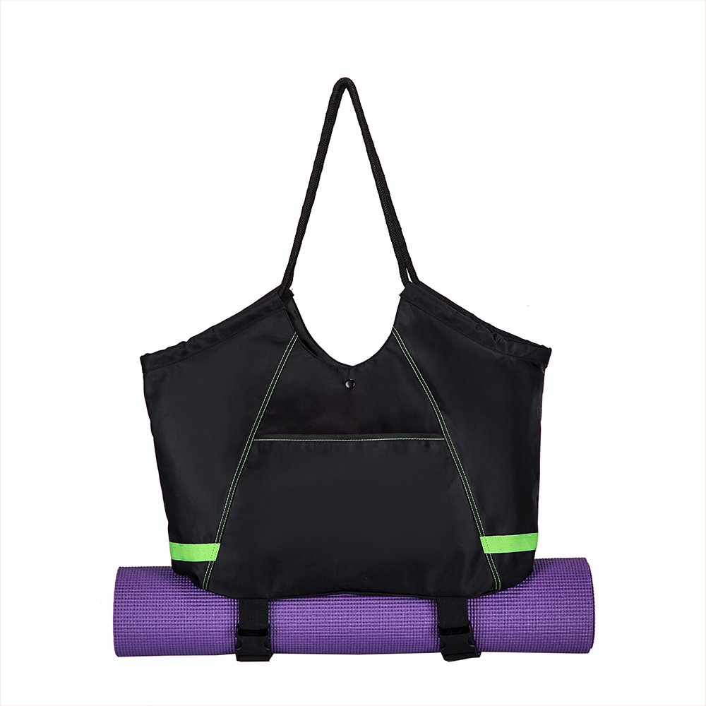 Covax Yoga Mat Bag, Exercise Yoga Mat Carrier, Large Women/Men Tote Bag with 2 Extra Pockets for Yoga Towel, Yoga Mat Spray - Best Bags for Gym, Yoga, and Pilates