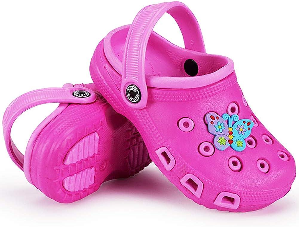 Enfant Sabots Mules Fille Gar/çon Tongs Plage Pantoufle Sandales Slip-on Piscine Chaussures /Ét/é 509 Pink 35