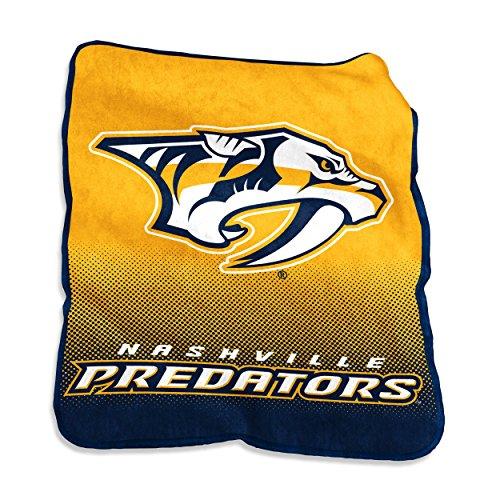 NHL Nashville Predators Plush Raschel Throw with large Logo Blanket, Multicolor, 50