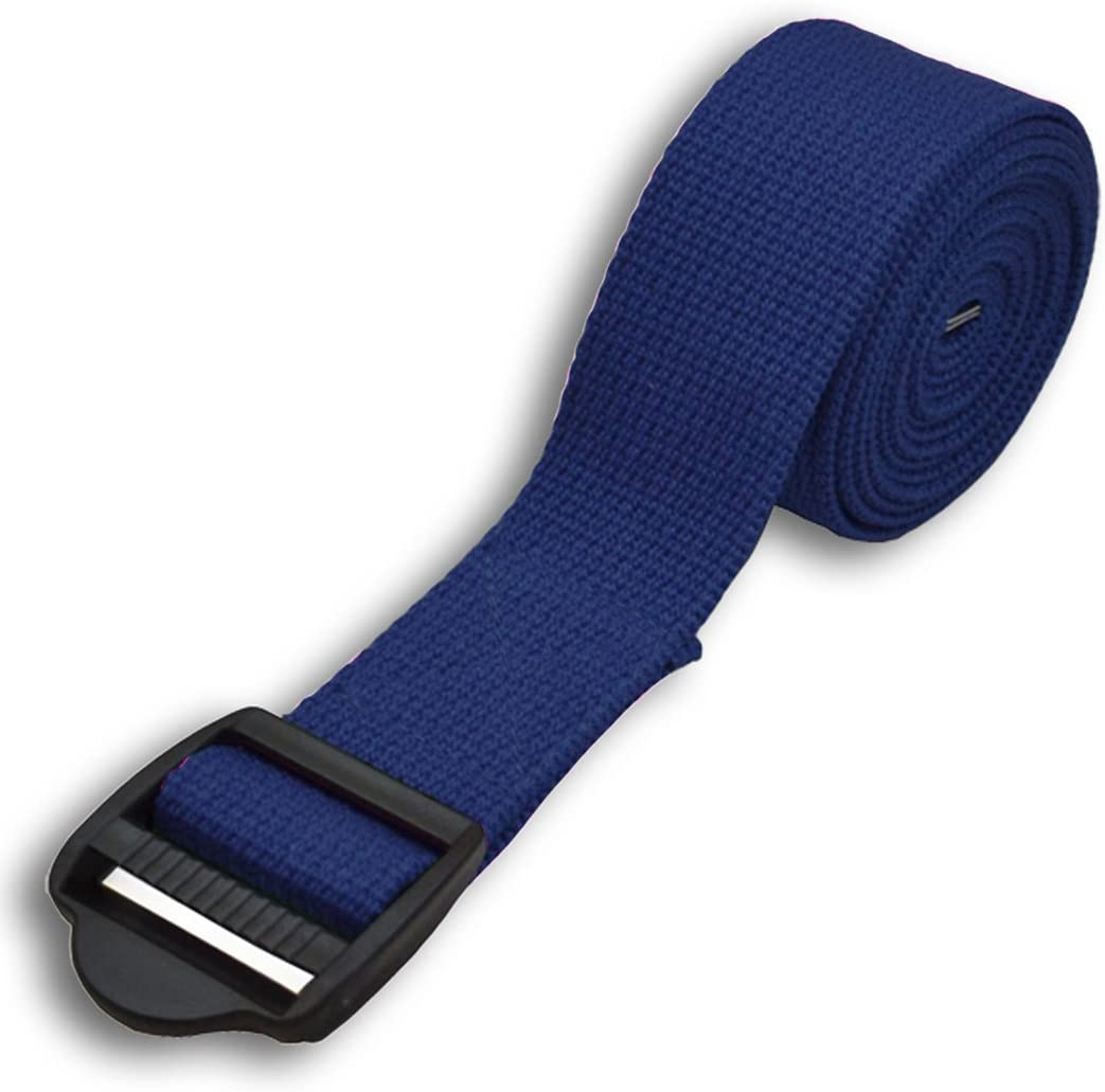 YogaAccessories 8 Cinch Buckle Cotton Yoga Strap