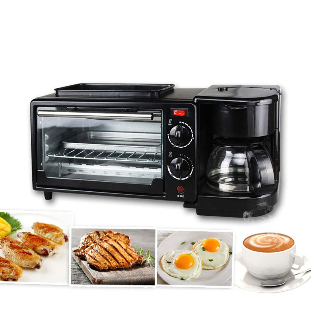 YID Small Appliances Family Multi-Function Breakfast Machine Coffee Oven Mini Buffet 3 in 1 Breakfast Machine Toaster