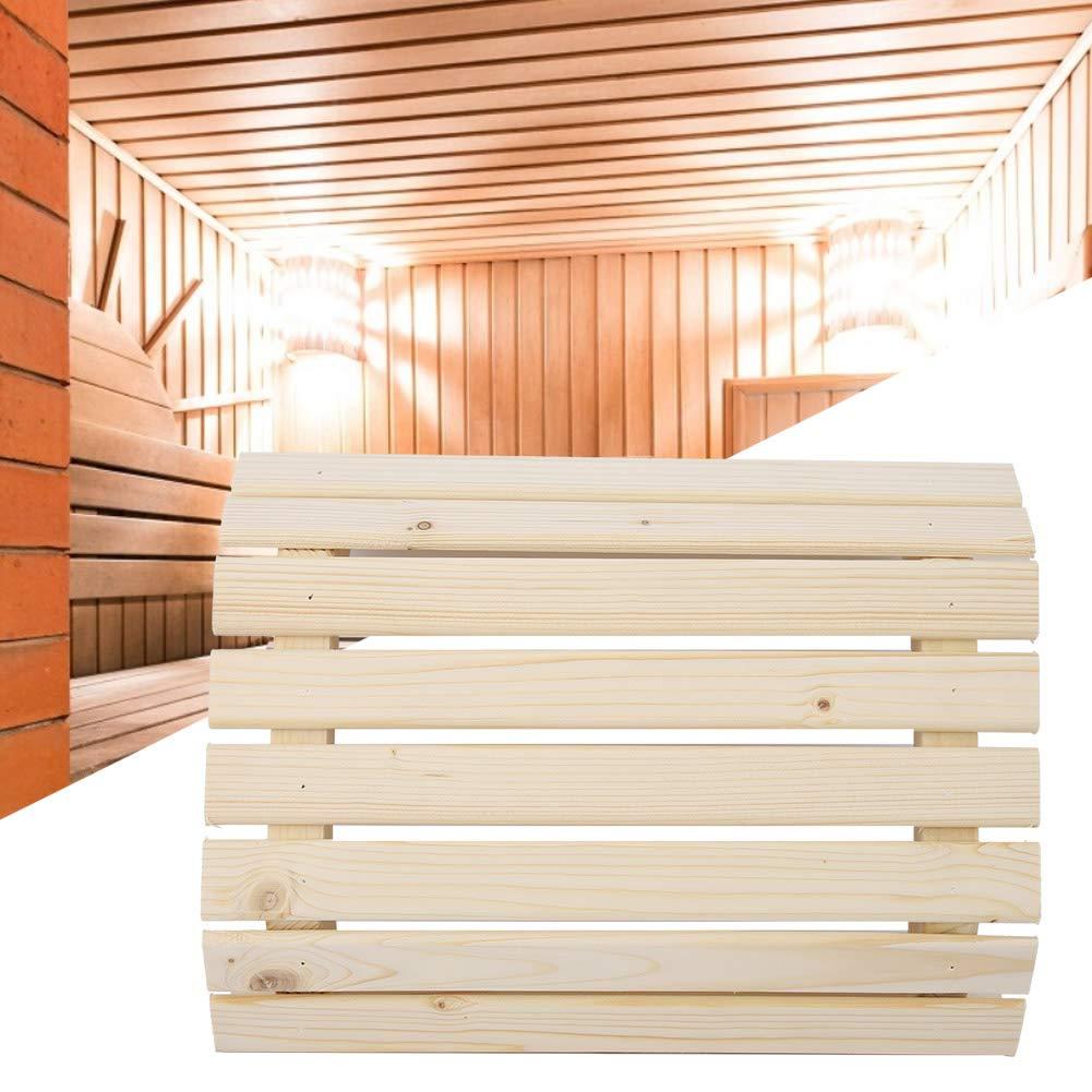 luz antiexplosi/ón Sombra Accesorios. pr/áctica en la Sala de Sauna Duokon Sauna-Lampenschirm luz de la l/ámpara Pantalla Suministros de Sauna semicircular Fabricada en Madera