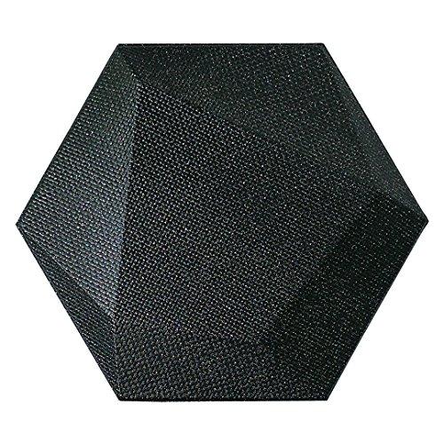 Mosaic Tile Accent Art Wall (Art3dwallpanels Faux Leather Tiles 3D Wall Panels Hexagonal Mosaic Wall Tiles (20 Pack))