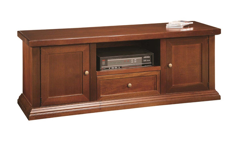 Mueble tipo banco para la TV, 2 puertas, 1 cajón, de madera ...