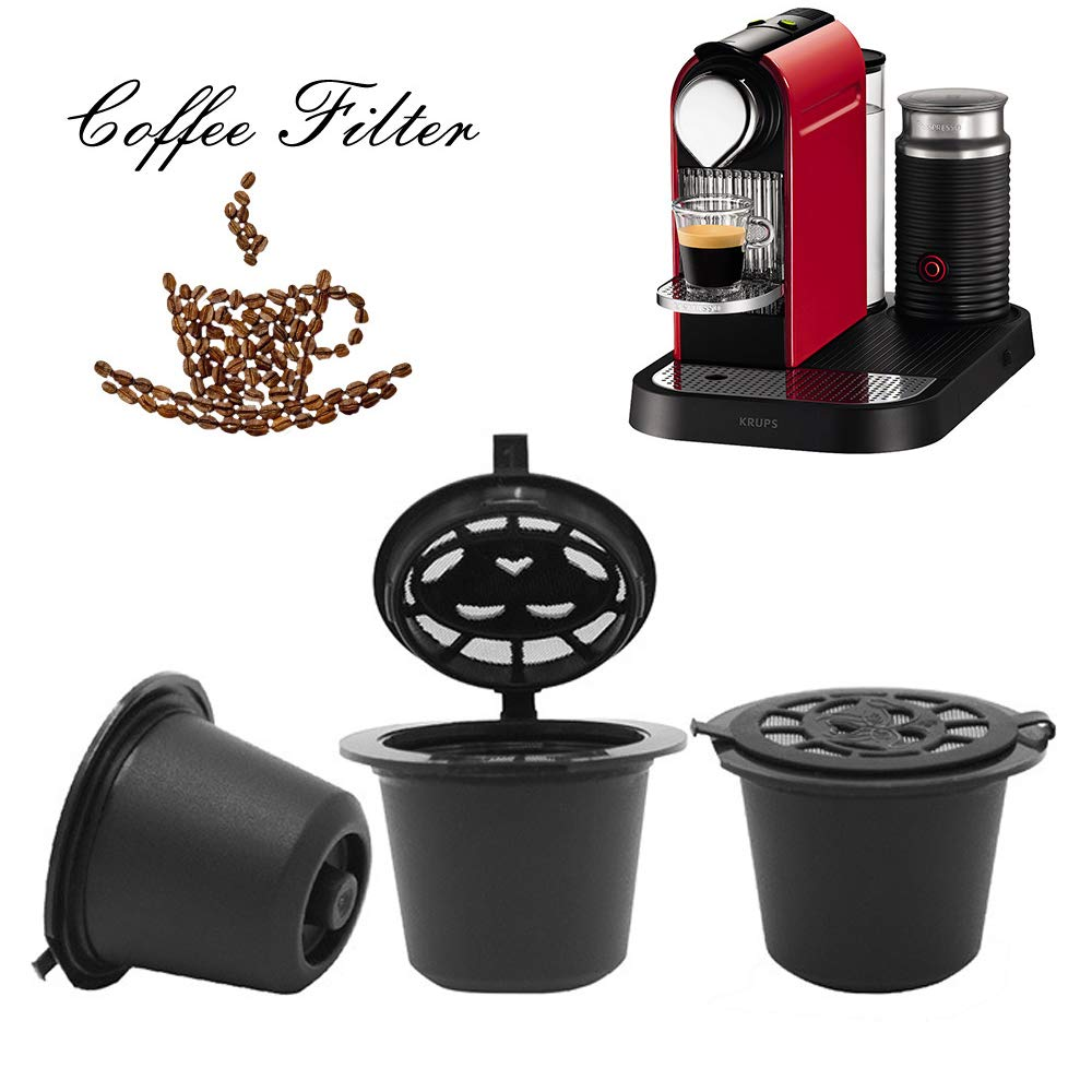 Timegoing i cafilas Classic Reusable Coffee Capsules Cups Refillable Filter Basket Capsules Pods For Nespresso