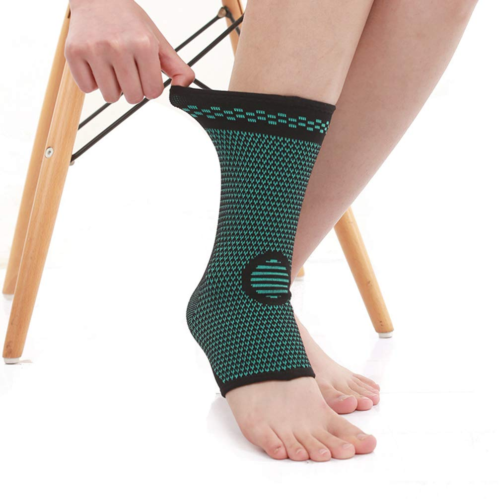 Ankle Support Elastic Force and Breathable knitting Foot Guard Protector for Basketball Badminton Mountaineering