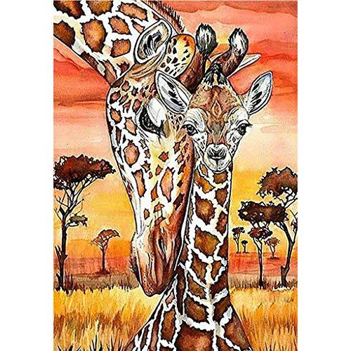 (DIY 5D Diamond Painting Full Drill Rhinestone Embroidery for Adult Diamond Painting Kit Paint with Diamonds Wall Decor Giraffes (11.8X15.7inch))