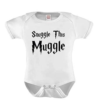 25bcc42f0 Snuggle this muggle baby grow Vest bodysuit onesie (0-3): Amazon.co ...