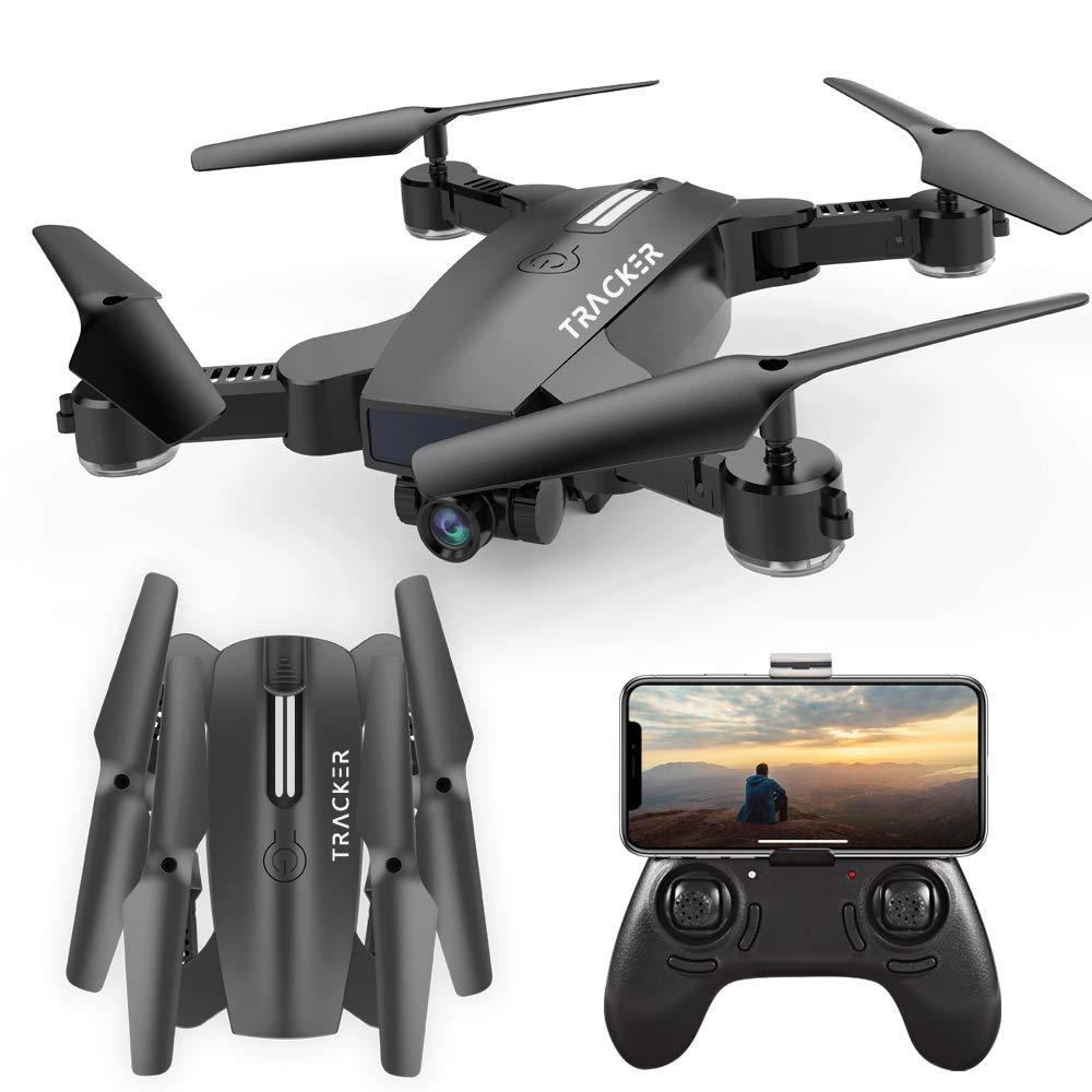 カメラ付きRCドローン1つのキーで離陸/着陸クアドコプター、調節可能な広角720P HD WIFIカメラ付きドローン、6軸ジャイロクアドコプター、高度保持   B07TSJVK19
