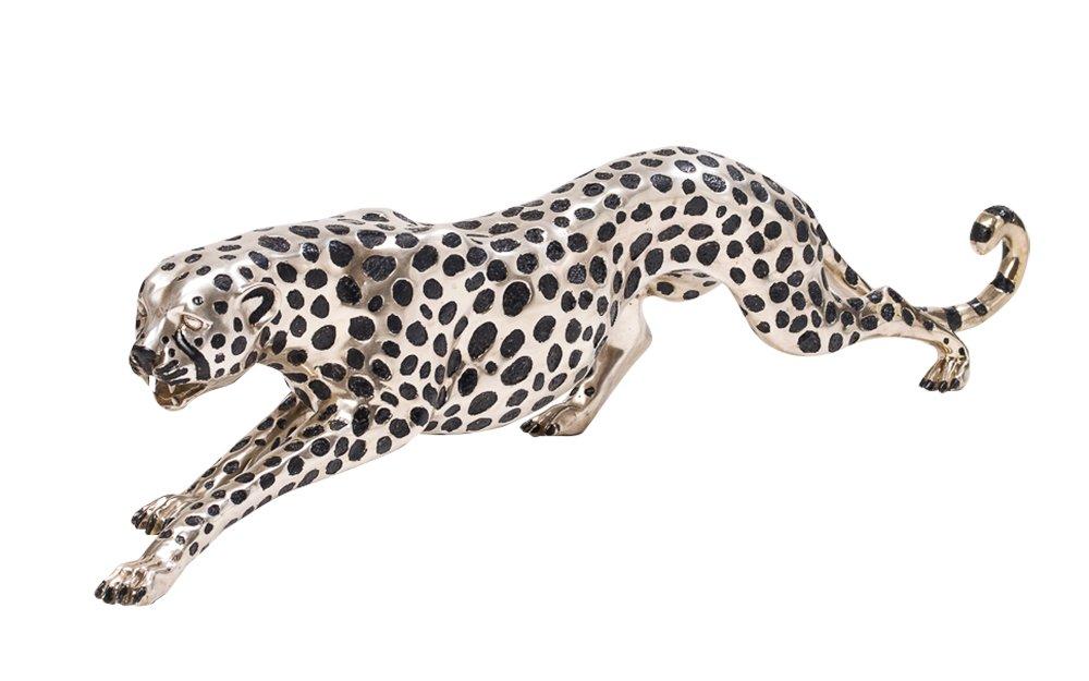 Riesen Bronze Skulptur Gepard Panther 114cm Bronzeskulptur ...