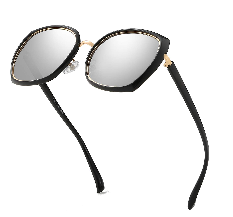 SLearn Polarized Sunglasses for Women Butterfly Shades Oversized Sunglasses Newest Stylish Brand Designer SL0N008(BGP)
