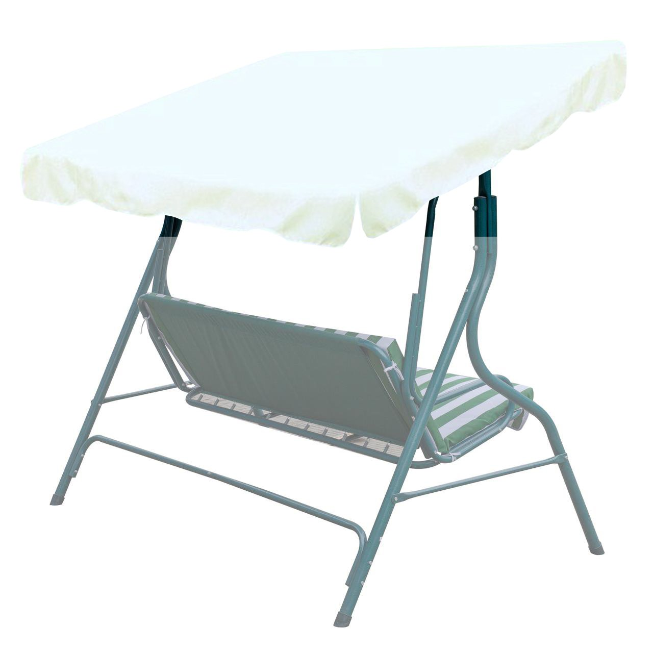 BenefitUSA Outdoor Patio Swing Canopy Replacement Porch Top Cover for Seat Furniture (73''x52'', Ecru)