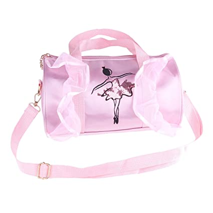 172cc0cd9812 Amazon.com: FEESHOW Girl's Ballet Shoes Dance Kit Bag Embroidered ...