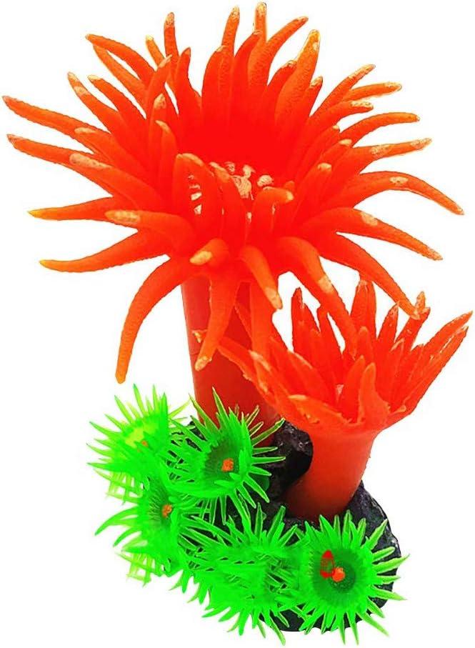 1PC Artificial Coral Yellow Fish Tank Decor Floating Faux Sea Plant Ornament Aquarium Simulation Coral Reef