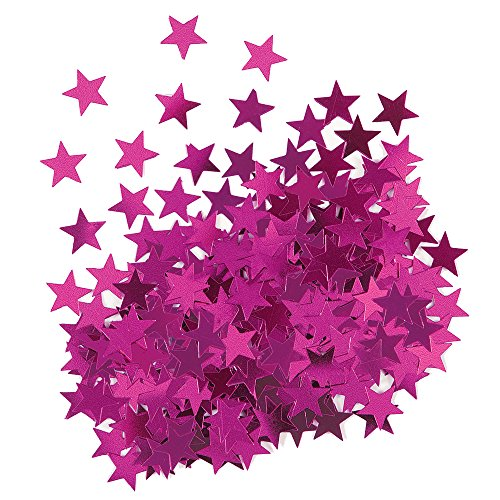 (Metallic Pink Star Confetti)
