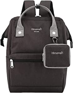 Himawari Travel Laptop Backpack for Men Women, Huge Capacity 15.6'' Computer Notebook Bag for School College Students(Black&Gray))
