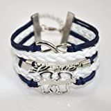 ACUNION™ Handmade Puzzle Piece JigSaw Puzzle Infinity Leather Bracelet for Girl Boy