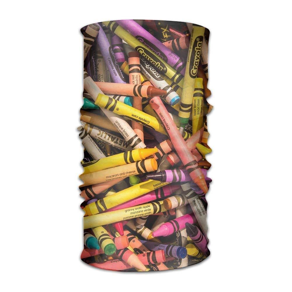 Colorful Crayon DIY Printed Headband Bandana Mask Sports ...