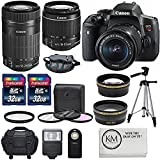 Cheap Canon EOS Rebel T6i + EF-S 18-55 + EF-S 55-250 Lens w/ Accessory Bundle Kit