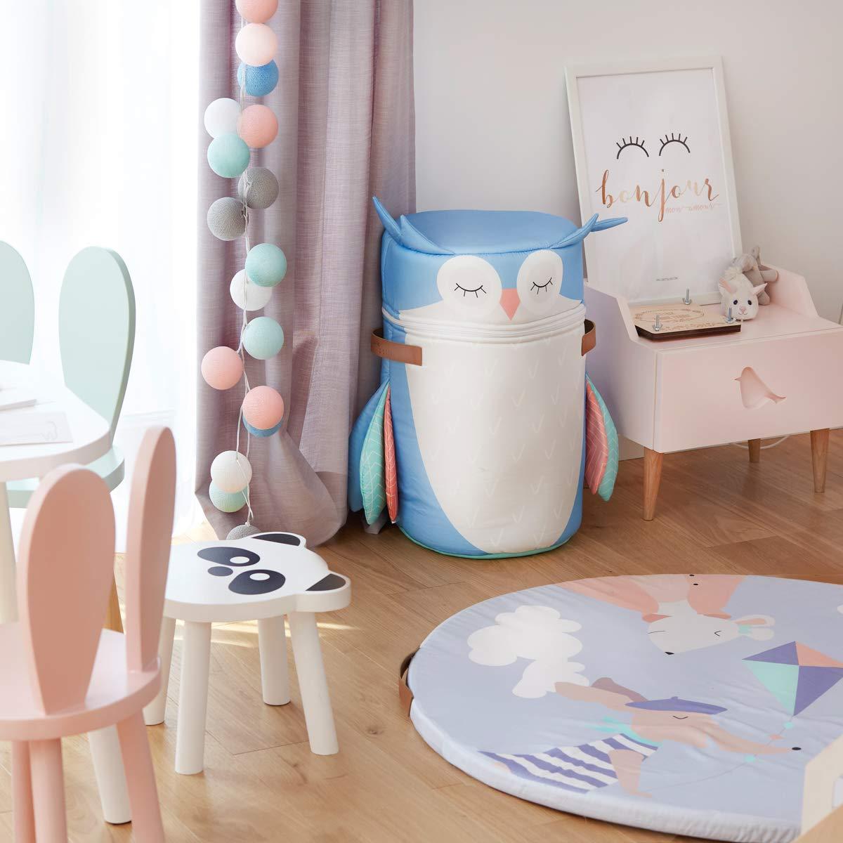 W/äschekorb Kinderzimmer Organizer F/ür Baby Spielzeug Aufbewahrungsbox Kinder Mit Deckel F/ür Kinderzimmer Deko Sophia Eule M/ädchen Spielzeug Junge Spielzeug NOLLI POLLI