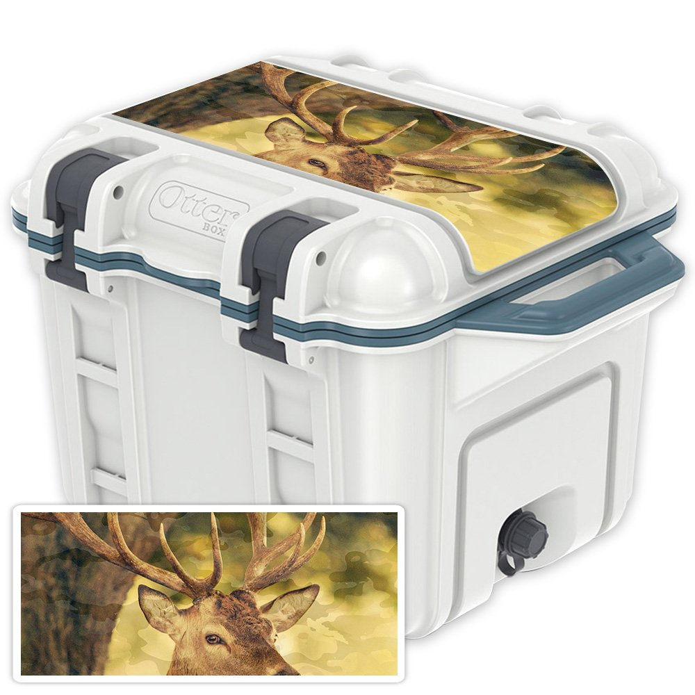 Deer Camo OtterBox Venture 25 qt Cooler Lid MightySkins Skin Compatible with OtterBox Venture 65 qt Cooler  Pink Leopard   Predective, Durable, and Unique Vinyl Decal wrap Cover   Easy to Apply, Remove, and Change Styles   Made in The USA
