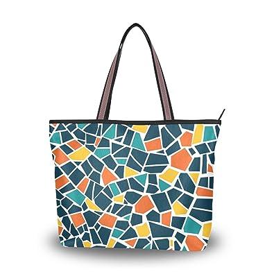 Amazon.com: Bolso de mano para mujer, estilo informal, bolsa ...