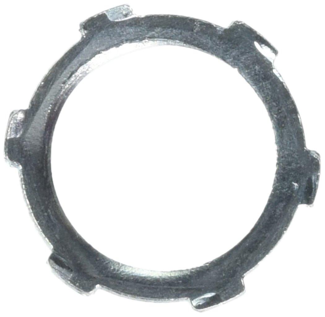 Halex 61907B Conduit Locknuts Rigid and Intermediate Metallic Conduit (IMC) Fitting Steel (100 Piece), 3/4''
