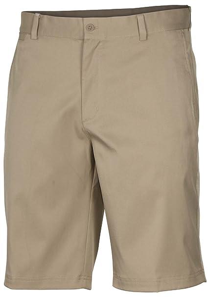 ddc228ed2fd95 Amazon.com : Nike Mens Flat Front Stretch Golf Shorts Khaki : Clothing
