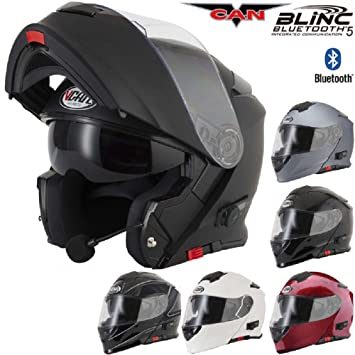 V271 BLINC Moto Motocicleta Bluetooth Cascos VCAN Modular Flip Up Bluetooth Cascos Touring