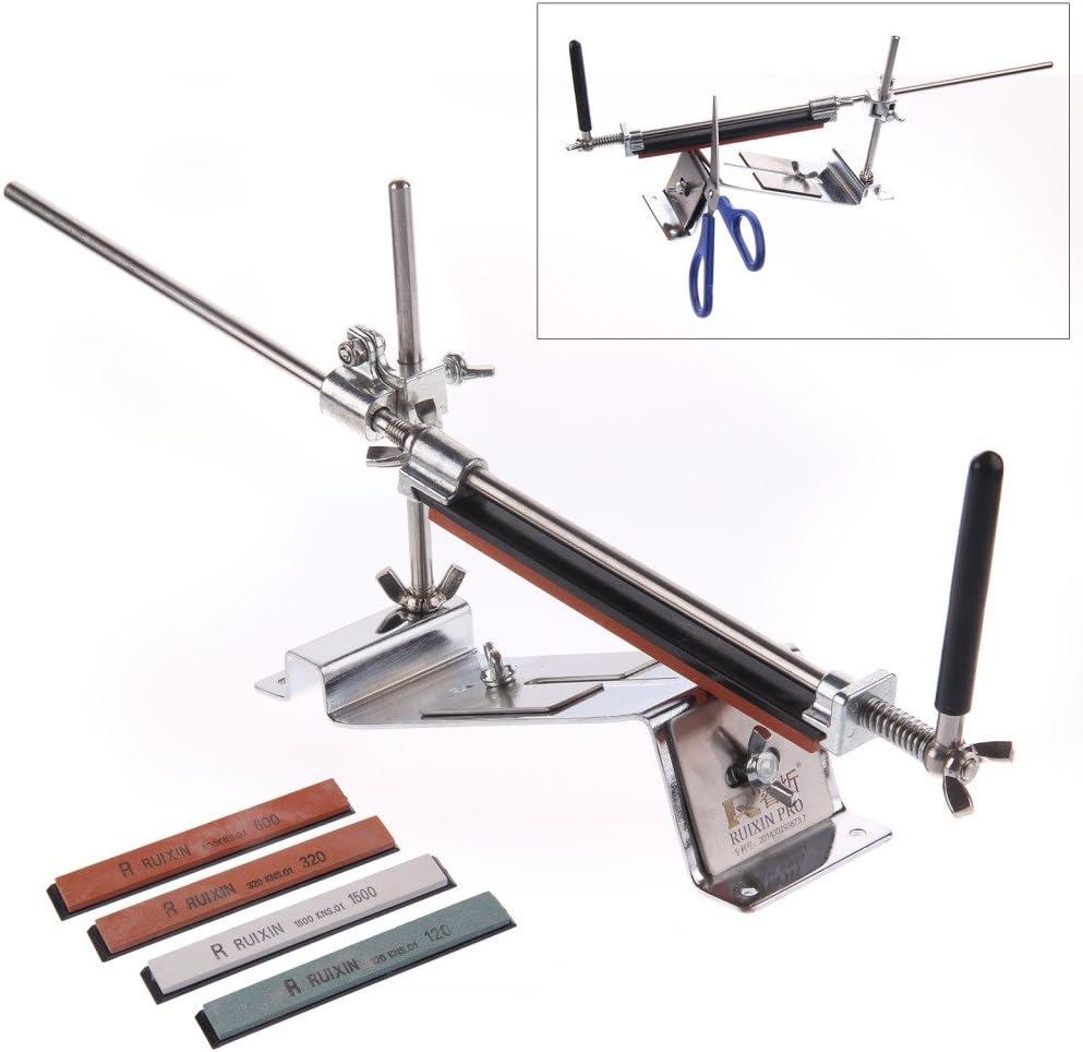 Wetzsteine Messersch/ärfer Schleifer Sch/ärfstein Set Professionelle K/üche Fix-Angle Messersch/ärfer System Kit f/ür Haus und K/üche