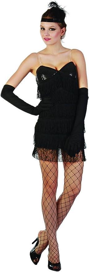 Disfraz charlestón sexy mujer negro S: Amazon.es: Juguetes y juegos